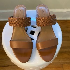 Coach Mia Woven Slide Sandals  Size 8 1/2